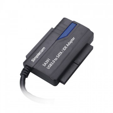 "Simplecom SA391 USB 3.0 TO 2.5"", 3.5"" & 5.25"" SATA/IDE Adapter with Power Supply"