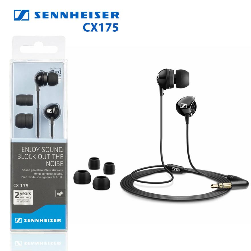 Sennheiser CX175 Headphones In Ear Earphones Earbuds For