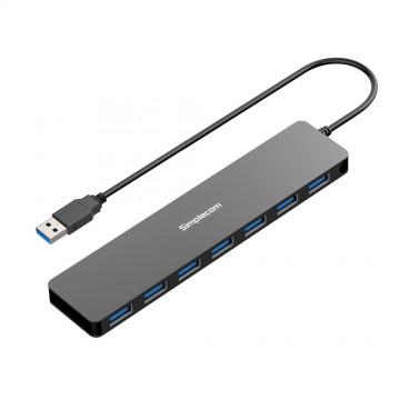 Simplecom CH372 Ultra Slim Aluminium 7 Port USB 3.0 Hub