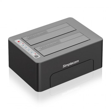 "Simplecom SD422 Dual Bay USB 3.0 Docking Station for 2.5"" and 3.5"" SATA Drive"