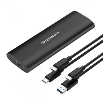 Simplecom SE516 NVMe / SATA Dual Protocol M.2 SSD Tool-Free USB-C Enclosure USB 3.2 Gen 2 10Gbps